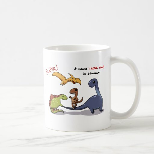 Cute Group of Dinosaurs Rawr Means We love you :) Coffee Mugs