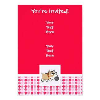 Cute Grumpy Dog 13 Cm X 18 Cm Invitation Card