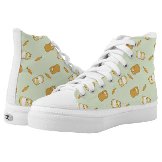 Cute Guinea Pig and Carrots Printed Shoes