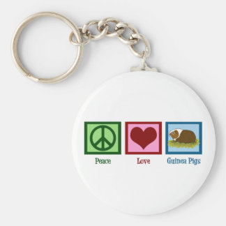 Cute Guinea Pig Basic Round Button Key Ring