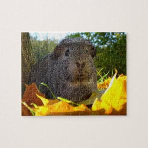 Cute Guinea Pig in Nature Jigsaw Puzzle