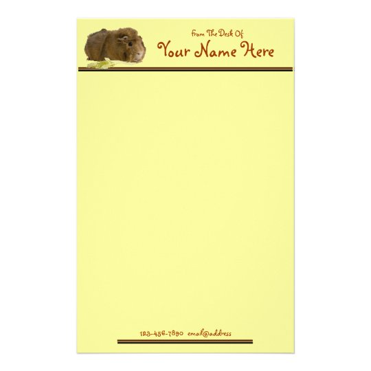 Cute Guinea Pig Stationery