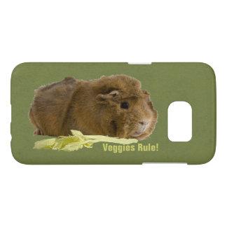 Cute Guinea Pig With Celery