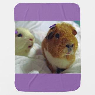 cute guinea pigs baby blanket