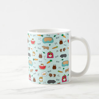 Cute Guinea Pigs Basic White Mug