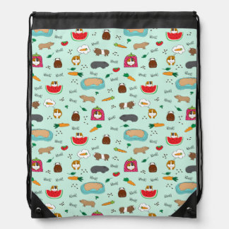 Cute Guinea Pigs Drawstring Bag