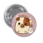 Cute guinea pigs with kawaii food 3 cm round badge
