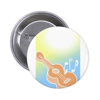 Cute Guitar 6 Cm Round Badge