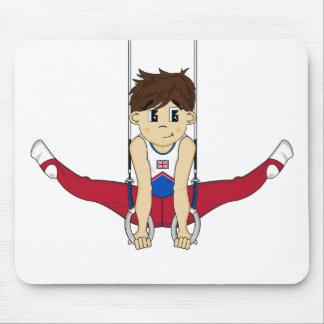 Cute Gymnast on Rings Mousepad