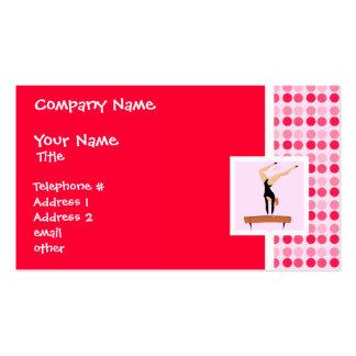 Cute Gymnastics Balance Beam Business Card Template