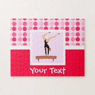 Cute Gymnastics Balance Beam Jigsaw Puzzle