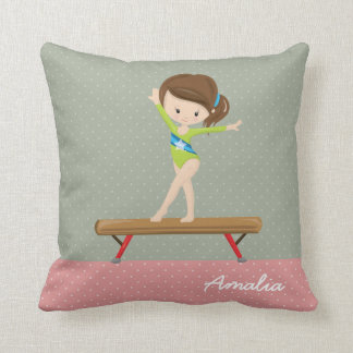 Cute gymnastics girl cushion