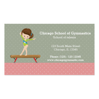 Cute gymnastics girl pack of standard business cards