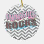 Cute gymnastics rocks gifts christmas ornament