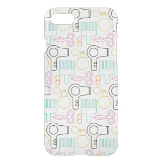 Cute Hairdresser Stylist iPhone 7 Clear iPhone 7 Case