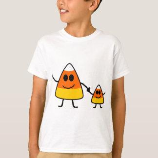 Cute Halloween Candy Corn Family Tee Shirt