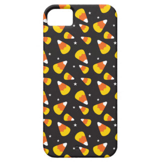 Cute Halloween candy corn on black pattern Case For The iPhone 5