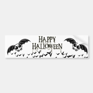 Cute Halloween Cartoon Bat Bumper Sticker