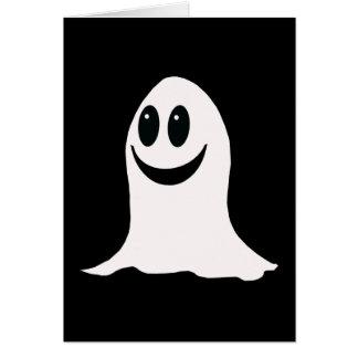 Cute Halloween Cartoon Ghost Greeting Card