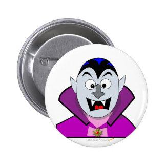 Cute Halloween Cartoon Vampire 6 Cm Round Badge