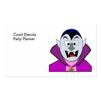 Cute Halloween Cartoon Vampire Business Card Templates