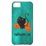 Cute Halloween cat with pumpkins iPhone 5C Case