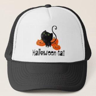 Cute Halloween cat with pumpkins Trucker Hat