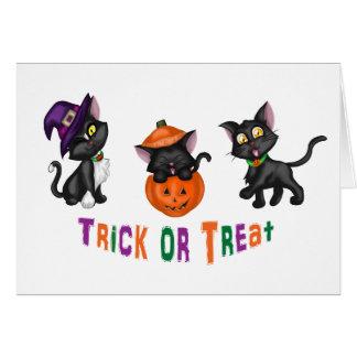 Cute Halloween Cats Greeting Card