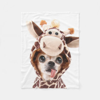 Cute Halloween Chihuahua Fleece Blanket