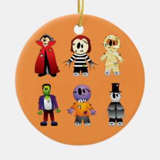 Cute Halloween costume characters Christmas Ornament