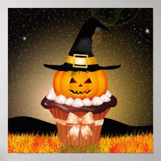 Cute Halloween Cupcake Poster
