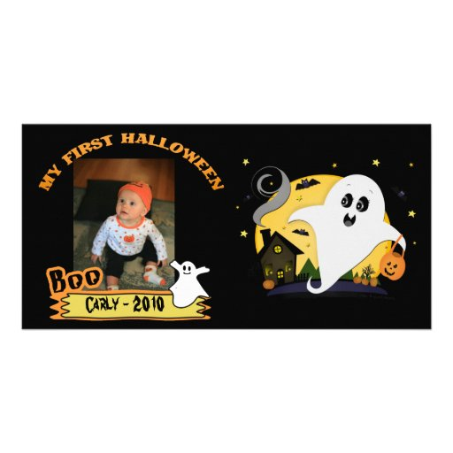 Cute Halloween Custom Photo Card