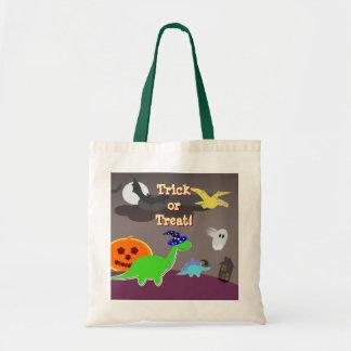 Cute Halloween Dinosaurs Trick or Treat Bag
