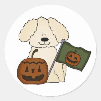 Cute Halloween Dog Classic Round Sticker