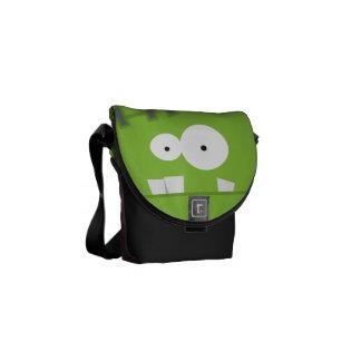 Cute Halloween Frankenstein Monster Face Courier Bags