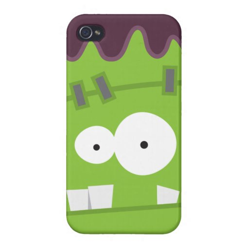 Cute Halloween Frankenstein Monster Face iPhone 4/4S Cover