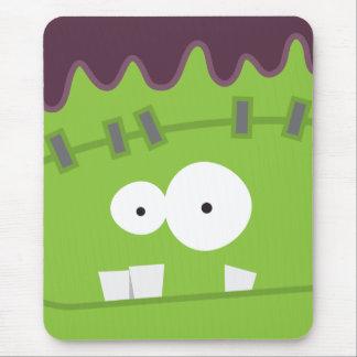 Cute Halloween Frankenstein Monster Face Mousepads