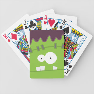 Cute Halloween Frankenstein Monster Face Bicycle Playing Cards