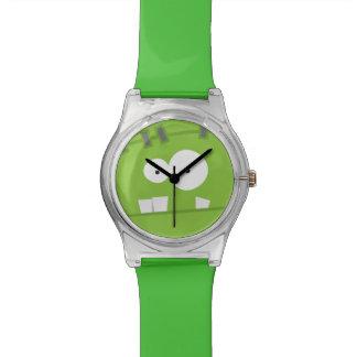 Cute Halloween Frankenstein Monster Green Face Watches