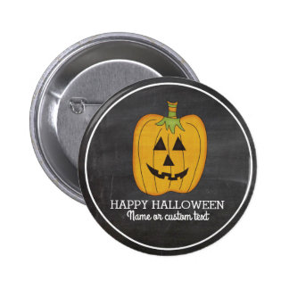 Cute Halloween Funny Pumpkin Jack O Lantern Custom 6 Cm Round Badge