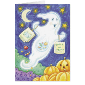 Cute Halloween Ghost Card