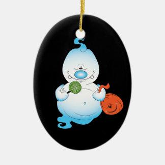 Cute Halloween Ghost Cartoon Christmas Ornament