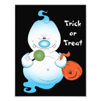 Cute Halloween Ghost Cartoon Photographic Print