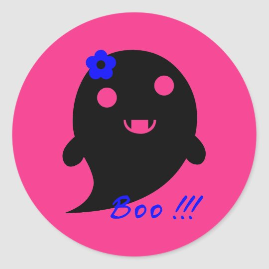 Cute Halloween Ghost Classic Round Sticker