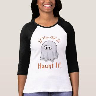 Cute Halloween Ghost If You Got It Haunt It Orange T-Shirt
