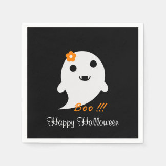 Cute Halloween Ghost Paper Serviettes