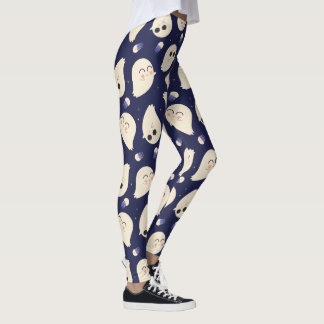 Cute Halloween Ghost Pattern Leggings