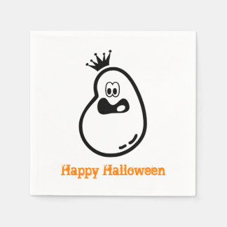 Cute Halloween Ghost with crown Disposable Napkin