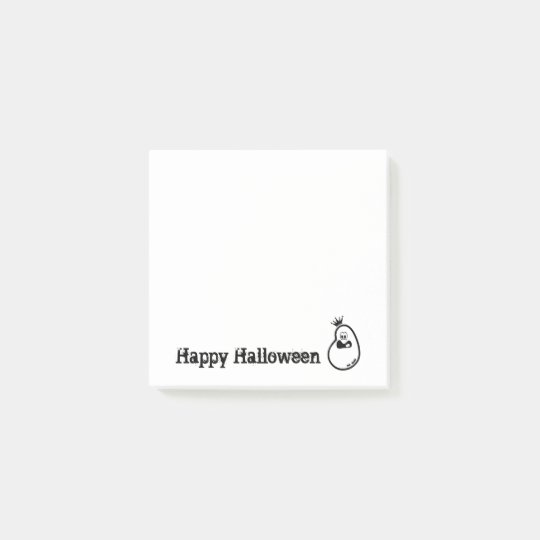 Cute Halloween Ghost with crown Post-it Notes