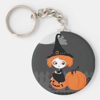 Cute Halloween Keychan Orange Pumpkin Witch Key Chains